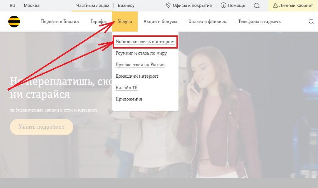 Как отправить СМС на Билайн бесплатно через Интернет?